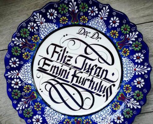 çini tabak fiyatları, çini tabak modelleri, çini tabak kaligrafi, çini tabak hat yazı, çini tabak hediye