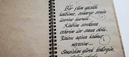 defter kaligrafi yazısı, defter el yazısı, defter hat yazısı