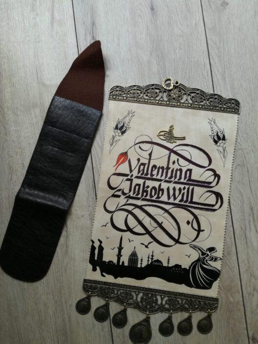 kaligrafi yazılı fermanlar, suni deri ferman yazıları, hat yazılı ferman, ferman yazı fiyatları, fermana el yazısı hediyesi
