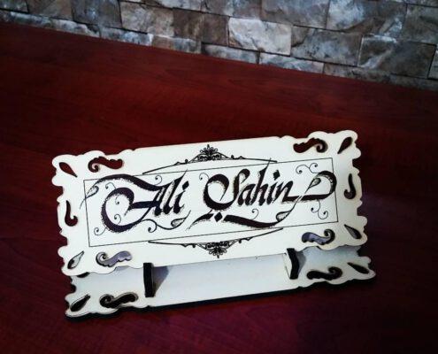 kaligrafik isimlik, kaligrafi isimlik, masa üzeri isimlik yazıları, isimlik kaligrafi fiyatları